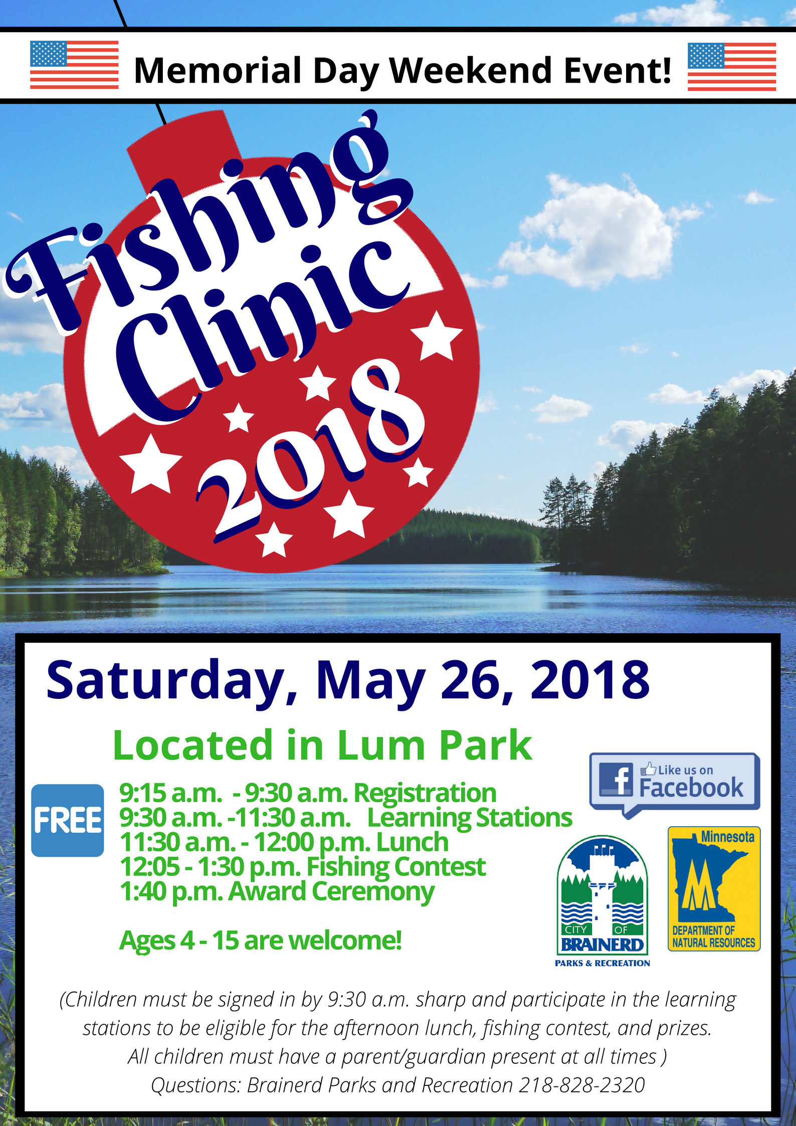 Fishing Clinic 2018 poster