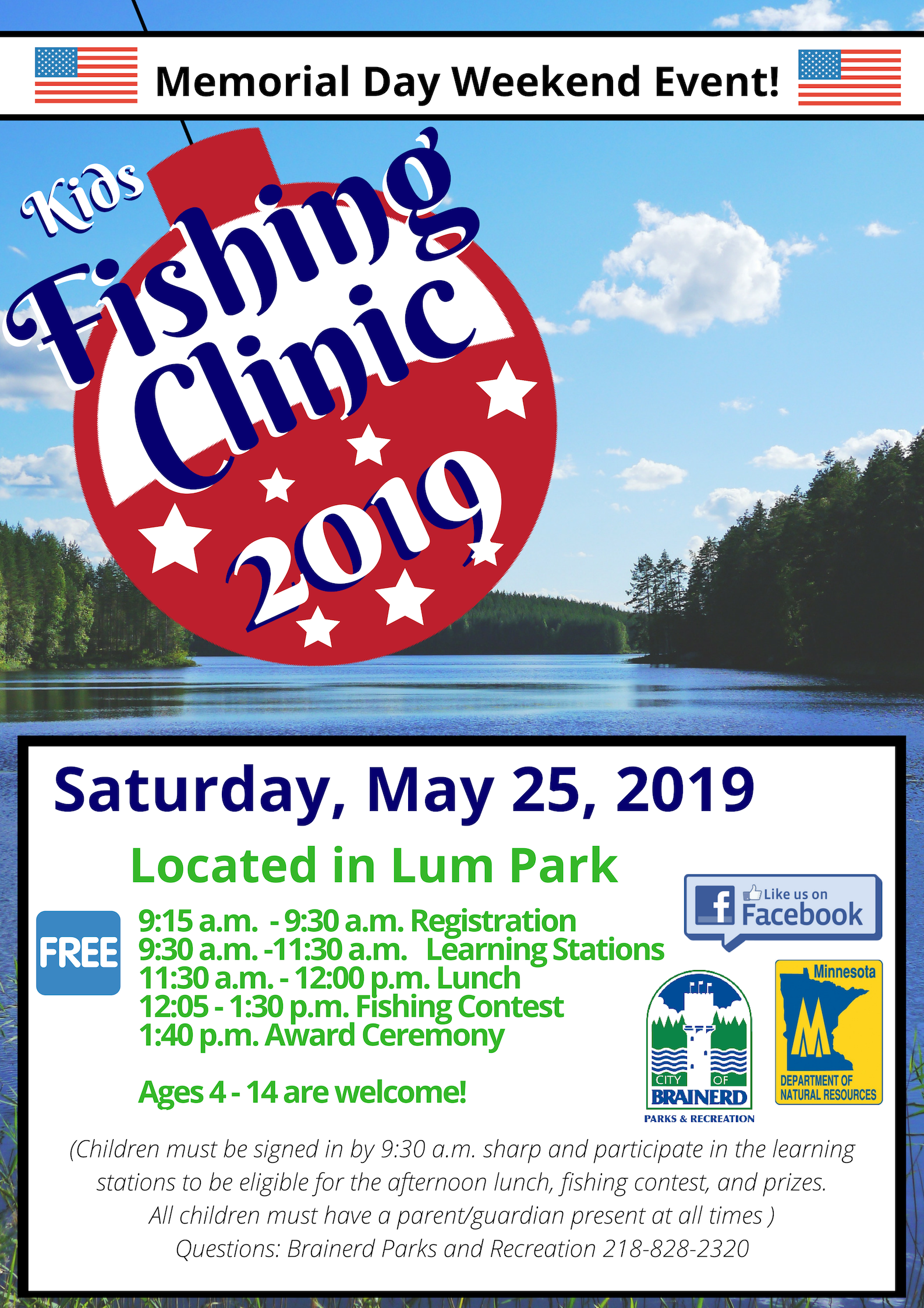 kids fishing clinic 2019