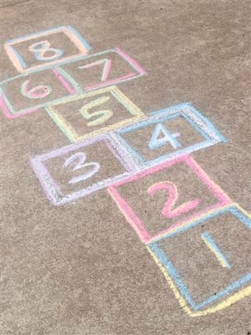 Chalk Hopscotch