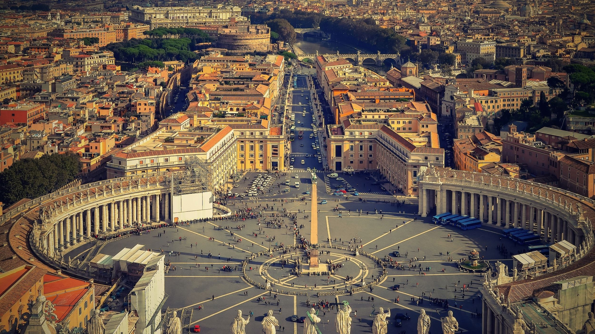 Canva - Aerial View of St Peter Square, The Vatican